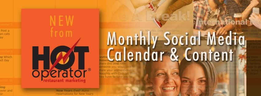 HotOperator Social Media Calendar Program