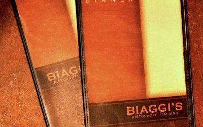 Biaggi's Restaurant Menu Design