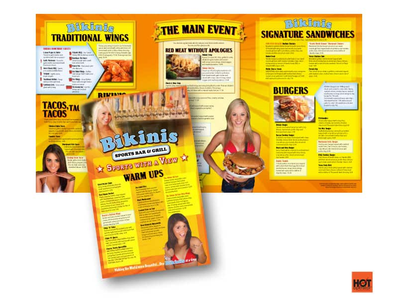 Bikini's Restaurant Menu After HotOperator