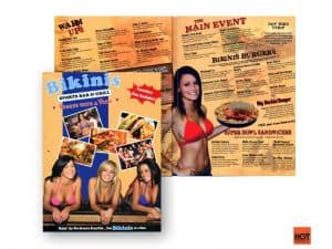 Bikini's Restaurant Menu Before HotOperator