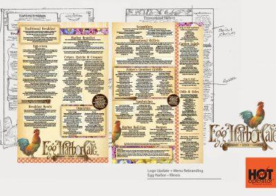 Egg Harbor Cafe Restaurant Menu Design