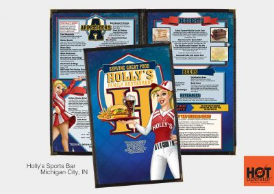 Holly's-Sports-Bar-Menu-Design