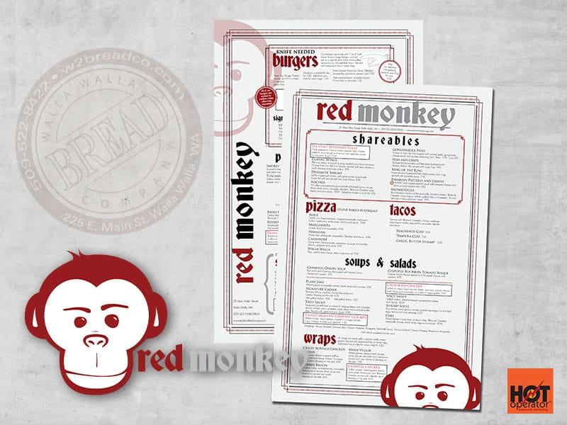 Red Monkey Menu