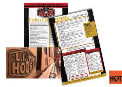 LI Pourhouse Restaurant Menu Design