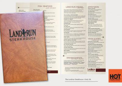 Landrun Steakhouse Restaurant Menu Design