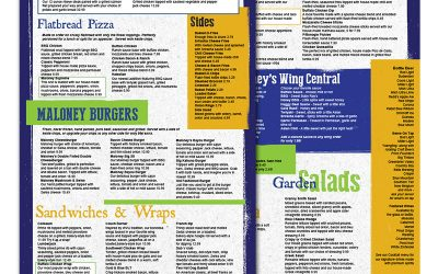 Maloney's Menu Design Before & After