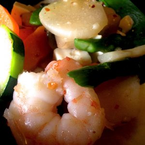 Asian Food Shrimp Vegetables