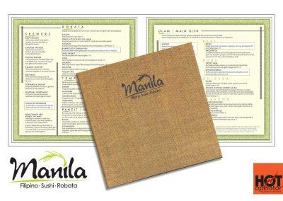 Manila Restaurant Menu Design