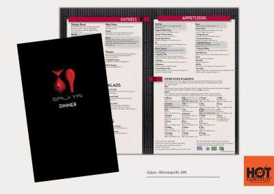 Sajia Restaurant Menu Design