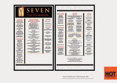 Seven Restaurant Menu Design